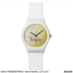 Indoor Volleyball Watch - mix or match band colors