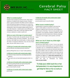 Cerebral Palsy Infographic There Are Three Common Forms Of