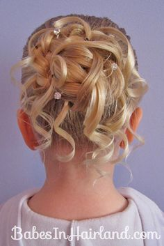 Brilliant Hairstyles Flower And Flower Girl Hairstyles On Pinterest Hairstyle Inspiration Daily Dogsangcom