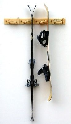 Tognar Toolworks - Jam Action Wall Mounted Ski Hanger, $79.95 (http://www.tognar.com/jam-action-wall-mounted-ski-hanger/)