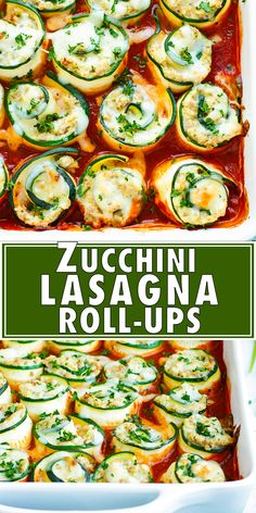Keto Zucchini Lasagna Roll-Ups are an easy, healthy, and low-carb dinner meal idea. This zucchini lasagna recipe has all of the flavor of a traditional lasagna recipe without the unnecessary carbs. Plus, this is one of the best zucchini squash recipes th Zucchini Dinner Recipes, Zucchini Lasagna Recipes, Gluten Free Lasagna, Gluten Free Recipes For Dinner, Veggie Recipes, Healthy Dinner Recipes, Keto Lasagna, Zuchinni Lasagna, Recipe Zucchini