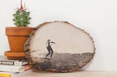 Transfiera sus fotos favoritas en la madera.