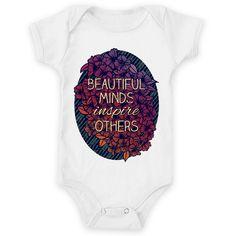 Body de bebê Beautiful Minds de @jurumple | Colab55
