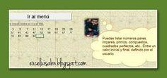 ExceLuisABN Matemática y Excel: Listar distintos tipos de números, enteros positiv...