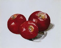 Charles Demuth (American, Apples (Peaches, A Double-Sided Work), circa Watercolor and pencil on paper, h: x w: in / h: 19 x w: cm. Watercolor Fruit, Watercolor Artists, Charles Demuth, Master Studies, Dream Art, Indigenous Art, Modern Artists, Kitchen Art, American Artists