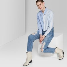7d1750f7a10 Women s Plus Size Button-Front Denim Midi Skirt - Wild Fable Medium ...