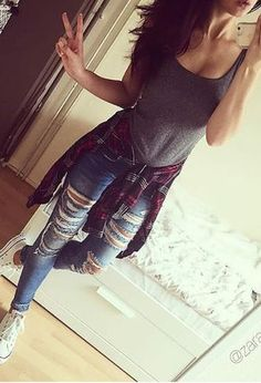 Look by @vicky490 with #sneakers #hm #jeans #forever21 #converse #shirts #newyorker #tanks.
