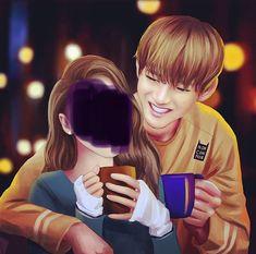 Taehyung Fanart, V Taehyung, Cartoon Girl Images, Girl Cartoon, Kpop Couples, Cute Couples, Bts V Girlfriend, Boyfriend, Drama Eng Sub