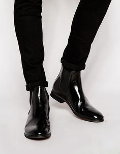 Shop Shoe The Bear High Shine Chelsea Boots at ASOS. Black Leather Chelsea Boots, Boating Outfit, Men S Shoes, Casual Boots, Leather Men, Shoe Boots, Men's Boots, Loafers, Men Boots