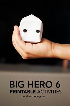 Big Hero 6 Printable Activities — All for the Boys Disney Diy, Disney Crafts, Disney Cruise, Big Hero 6 Party Ideas, Big Heroes, Hero 6 Movie, Origami, Big Hero 6 Baymax, 6th Birthday Parties