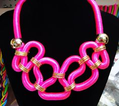 DIY neon snake necklace