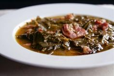 Magnolias' Collard Greens and Ham Hocks. A wonderful Southern recipe. I would use ham shank instead of ham hocks. Louisiana Recipes, Southern Recipes, Southern Food, Southern Dishes, Southern Comfort, Southern Style, Soul Food Menu, Hog Maws, Southern Collard Greens