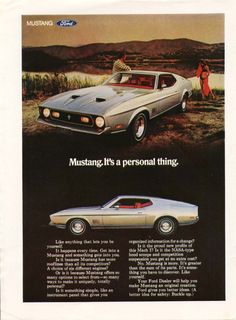 1971 Ford Mustang fastback Mach 1 advertisement