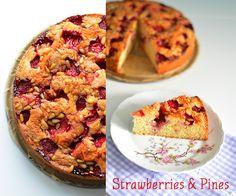 Erdbeerkuchen mit Pinienkernen - Strawberry Cake with Pines