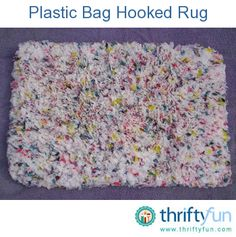 We get plastic bags from all of our stores when we shop so I decided to put them to use. I found my hook rug canvas and cut my bags in 4 inch by 1 inch strips to make a plastic bag rug.