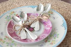 DIY Metal Stamped Silver Spoons | Darby Smart | Personalized Bridal Shower and Wedding Gift Idea
