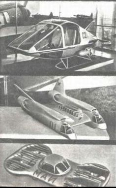 Note the bottom vehicle in this MAI Russian concept line-up from 1955