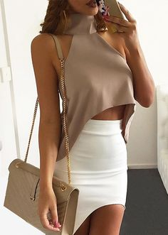 Modern Outfits, Classy Outfits, Chic Outfits, Sexy Outfits, Look Fashion, Womens Fashion, Crop Top Outfits, Classy Casual, Hippie Outfits