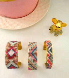 Bracelets manchettes en perles miyuki - Sa Majesté Pompon