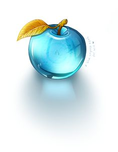Blue Crystal Apple by Adroth-Rian - PintoPin Arte Fashion, Glas Art, Art Of Glass, Glass Figurines, Fruit Art, Glass Paperweights, Blue Crystals, Resin Crafts, Tiffany Blue