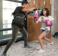 Millie Bobby Brown boxing with Mark Wright