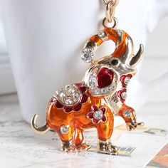 Elephant Lovely New Charm Pendant Rhinestone Crystal Keyring Chain Creative Gift Check out http://ift.tt/1QmxtS8