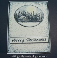 Crafting with Joanie: Stampscapes in a Christmas Card