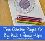 Free Printable Coloring Pages for Big Kids and Grown-Ups