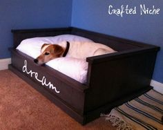 DIY dog bed- link to original design at the bottom of the blog