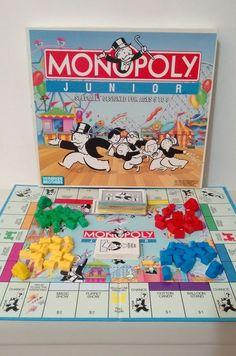 Monopoly Junior Children's Board Game Vintage 1990 Parker Brothers Rare | eBay