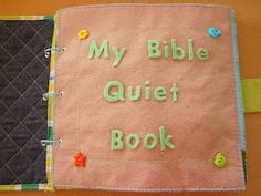 Some great Christian ideas for a quiet book.  So cute- makes me wish I knew how to sew!
