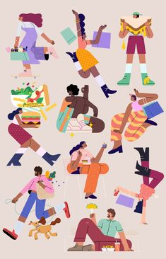 FIGat7TH - Summer - audrey.lee Summer Campaign, Downtown Los Angeles, Character Illustration, Character Design, Branding, Kids Rugs, Drawings, Artwork, Instagram
