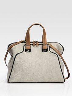 Fendi  Chameleon Canvas and Leather Duffle Bag