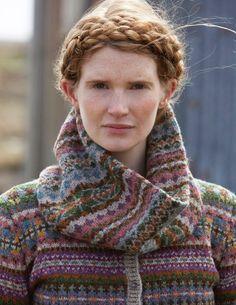 SHETLAND is a collection of 12 Fair Isle handknit designs for women by Marie Wallin using Jamieson's of Shetland Spindrift Fair Isle Knitting, Hand Knitting, Knitting Patterns, Rowan Knitting, Motif Fair Isle, Knit Crochet, Crochet Pattern, The Wooly, Fair Isles