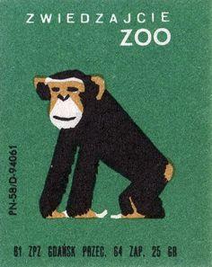 vintage book cover: cover by Kerstin & Per Engström Vintage Packaging, Vintage Labels, Vintage Posters, Vintage Graphic Design, Graphic Art, Monkey Art, Plakat Design, Year Of The Monkey, Matchbox Art