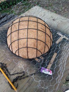 Coir Basket over Chicken Wire