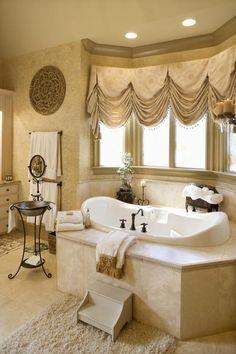 How to Tile a Bathtub Deck  i love this bathroom!!!!!!!!!