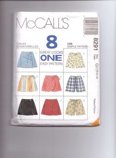 Childrens and Girls Skorts McCalls Sewing Pattern by SplashOfLuv Girls Skorts, Mccalls Sewing Patterns, Sewing Ideas, Quilting, Size 10, Tutorials, Etsy, Scraps Quilt, Jelly Rolls