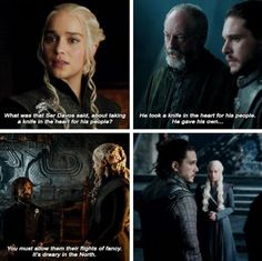S7E3 game of thrones season 7 episode 3. Jon Snow, Daenerys Targaryen, Ser Davos Seaworth, Tyrion Lannister. Jonerys, Kit Harington, Emilia Clarke, Peter Dinklage