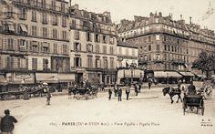 Paris 9e, la Place Pigalle vers 1900