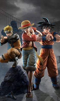 Son Goku with other two anime celebs One Piece Fan Art, One Piece Manga, Goku Wallpaper, Naruto Wallpaper, Wallpaper Art, Anime Furry, All Anime, Otaku Anime, Anime Art