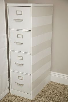 I have a couple of filing cabinets that could use a good make-over!