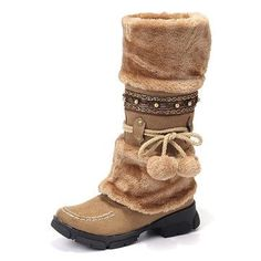 a6595a879 Lostisy LOSTISY Large Size Rhinestone Slip On Mid Calf Warm Knight Boots is  hot-sale. Come to NewChic to buy womens boots online Mobile.