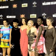 Alanna, Sonequa, Lauren, Emily, Danai & Melissa attends the Season 5 premiere of The Walking Dead at AMC Universal City Walk on October 2, 2014 in Universal City
