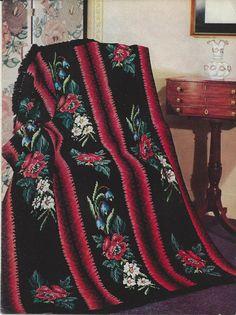 Crochê Folhas Flores Ponto Cruz Afegãos Padrão itens decorativos Criações -  /    Crocheting Leaves Flowers Afghan Standard Cross Stitch Decorative Items Creations -