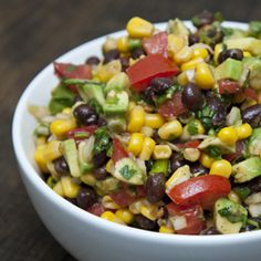 Simple Southwestern black bean salad, healthy and a great dish for summer.