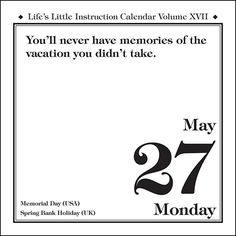 Life's Little Instruction 2013 Day-to-Day Calendar is the twenty-first edition of Life's Little Instruction Calendar, and each page features a fresh new instruction from H. Jackson Brown, Jr. Since 1993, his keen observations and witty insights have helped over 3 million devoted readers craft and navigate successful and honorable lives.