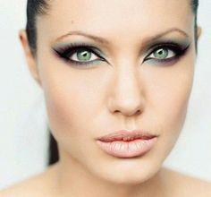 Angelina Jolie eye make-up.