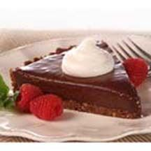 Chocolate Truffle Tart - Like a candy truffle, this tart combines the flavors of deep, rich chocolate with luscious, sweet raspberry.