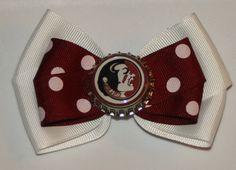 Florida State Seminoles Hair Bow by bowsforme on Etsy, $6.99